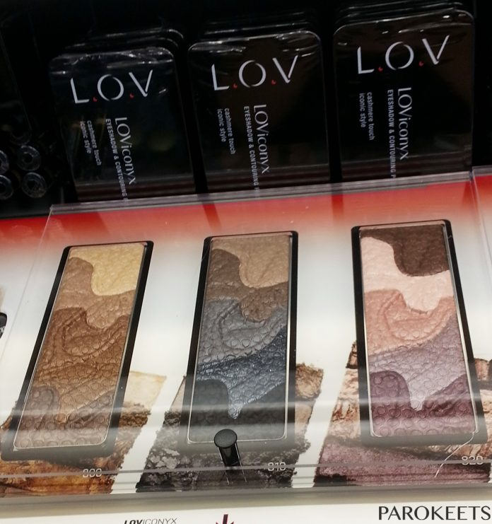 LOViconyx eyeshadow and contouring palette 800, 810, 820 by Gejba Parokeets