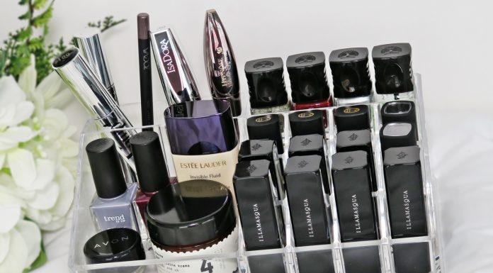 Ombia Kozmetik Organizer, skatla za shranjevanje kozmetike poln