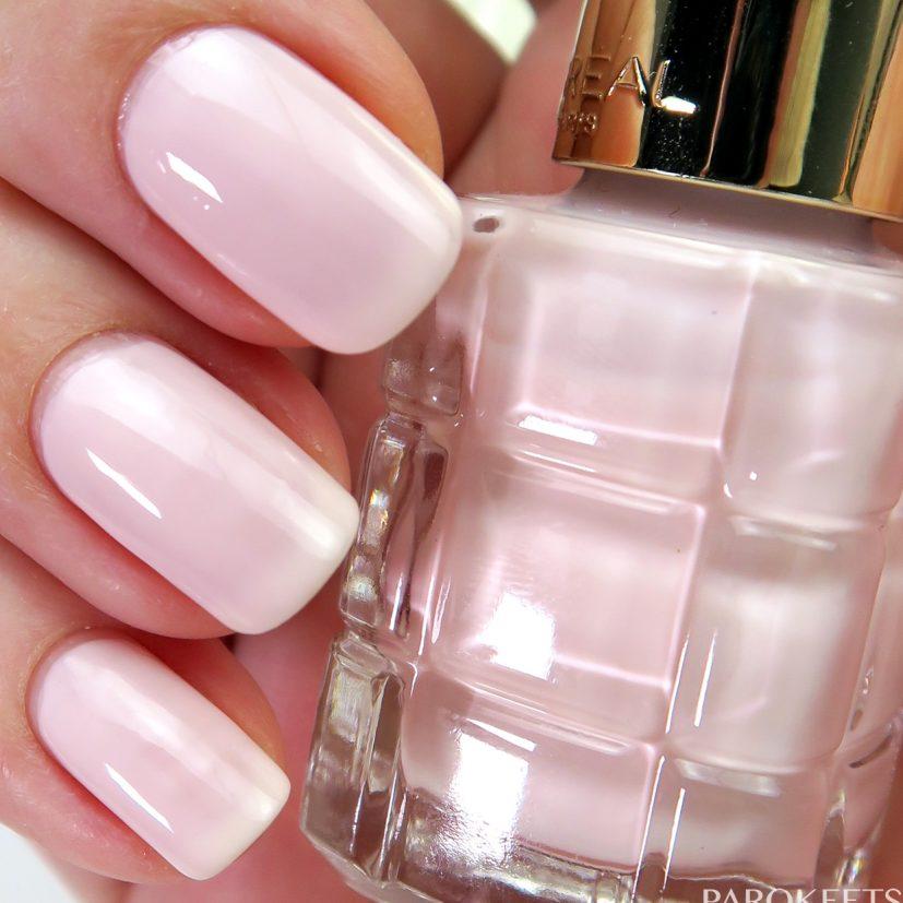 Color Riche Le Vernis a lHuile 114 Nude Demoiselle nail polish swatch