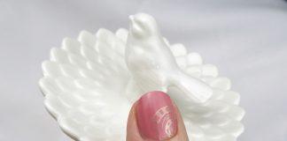 Manikura za Rožnati oktober - roza podlaga, zlati žarek upanja