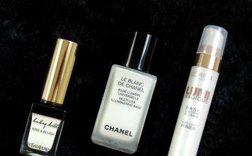 L'Oreal Lumi Magique Primer, Chanel Le Blanc de Chanel, Yves Saint Laurent Baby Doll Kiss & Blush