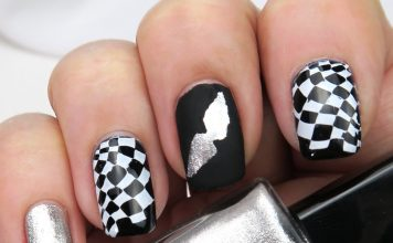 Movember nails by Gejba