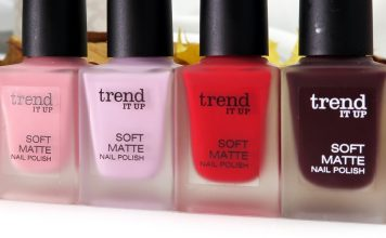 Trend It Up Soft Matte nail polish 2016: 010, 020, 030, 040
