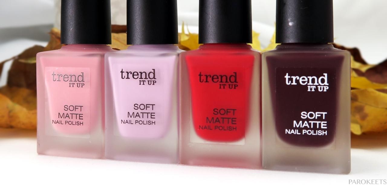 Trend It Up Soft Matte nail polish 2016: 010, 020, 030, 040