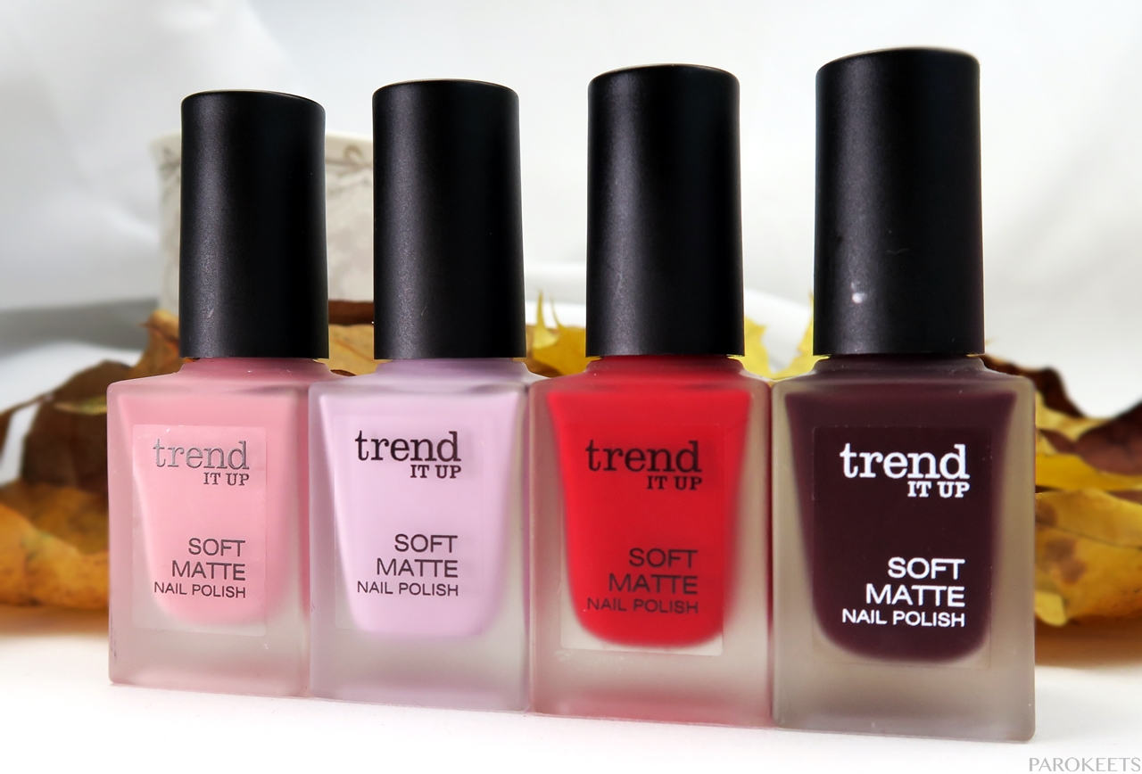 Trend It Up Soft Matte nail polishes | Parokeets