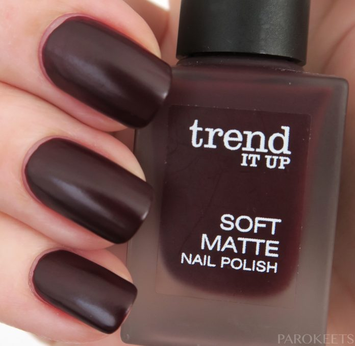 Trend It Up Soft Matte 020 chocolate nail polish