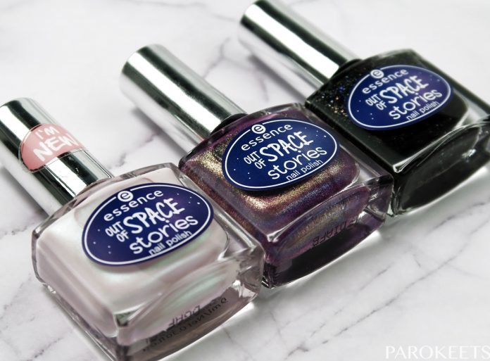 Essence Out Of Space nail polishes by Gejba Parokeets