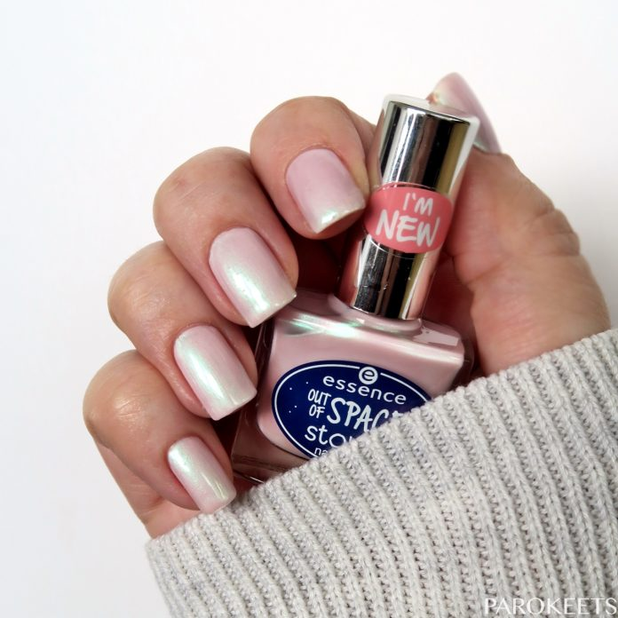 Essence Outta Space is the Place (Out Of Space Stories) pink green douchrome nail polish by Gejba Parokeets
