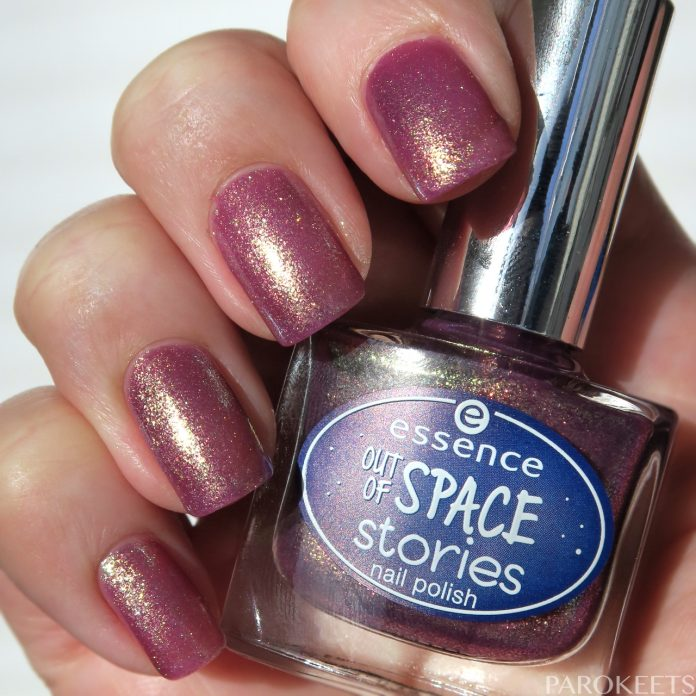 Essence Space Glam (Out of space stories) duochrome nail polish sun by Gejba Parokeets