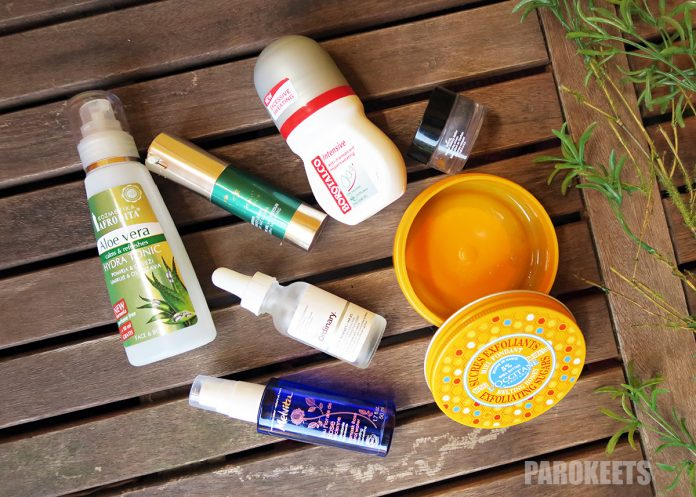 Empties August 2017 Parokeets