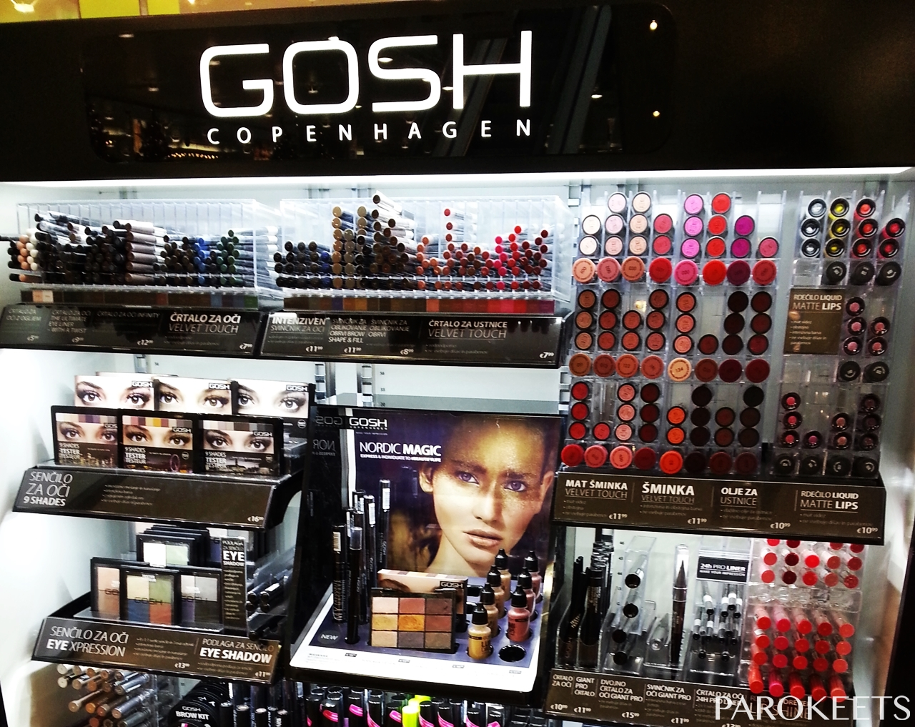 GOSH cosmetics Slovenia by Gejba Parokeets