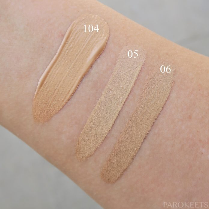 Golden Rose HD Foundation Soft Focus Flawless Finish 104 Beige, Concealer Soft Focus SPF 15 05, 06